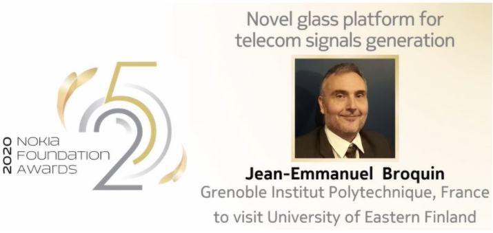 Chaire d'Excellence Nokia Foundation- Novel glass platfrom for telecom signals generation