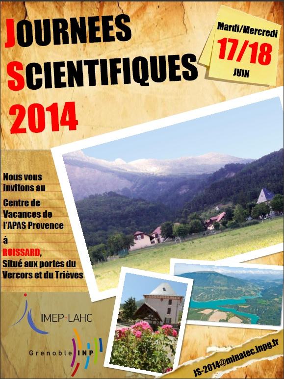 Journées Scientiques 2014-17 ET 18 jUIN 2014