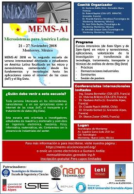 MEMS-Al Microsistemas para América Latina  21-27 Noviembre 2018-MEXICO