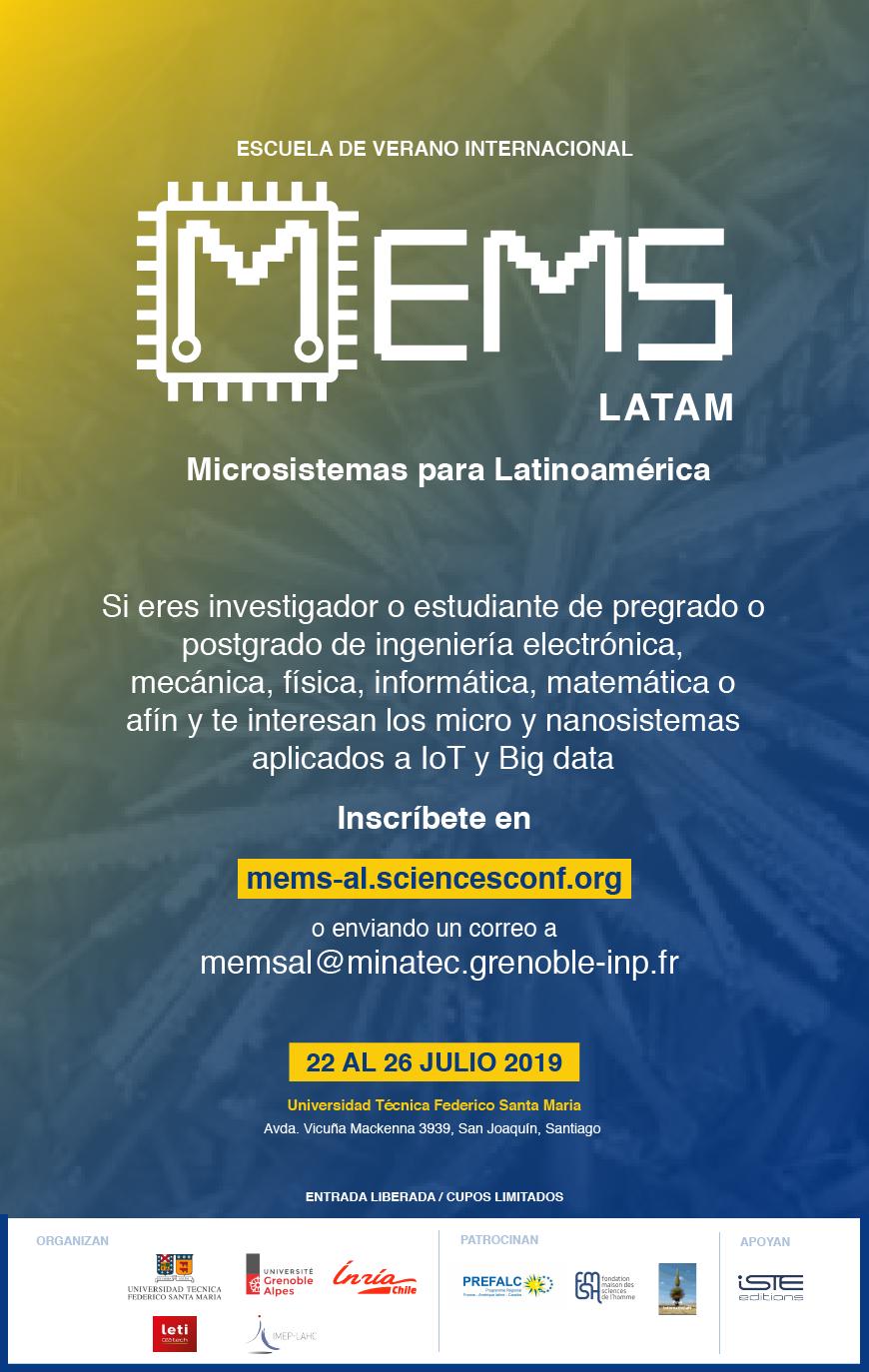 Université d'été internationale pour les étudiants en Amérique latine axée sur les micro et nanosystèmes
